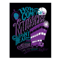 Harry Potter   The Knight Bus Typography Graphic Postcard