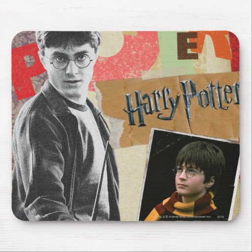 Harry Potter Then and Now Mouse Pad
