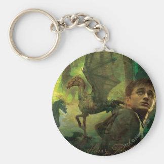 Harry Potter Thestrals Basic Round Button Keychain