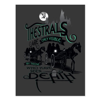 Harry Potter   Thestrals Typography Graphic Postcard
