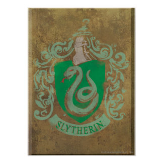 Harry Potter | Vintage Slytherin Poster