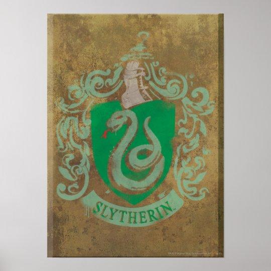 Harry Potter   Vintage Slytherin Poster