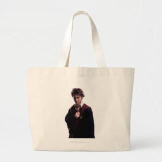 Harry Potter Wand Raised Large Tote Bag