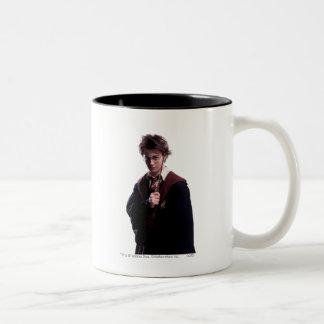 Harry Potter Wand Raised Two-Tone Coffee Mug