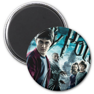 Harry Potter With Dumbledore Ron and Hermione 1 2 Inch Round Magnet