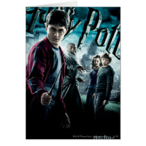 Harry Potter With Dumbledore Ron and Hermione 1 Card