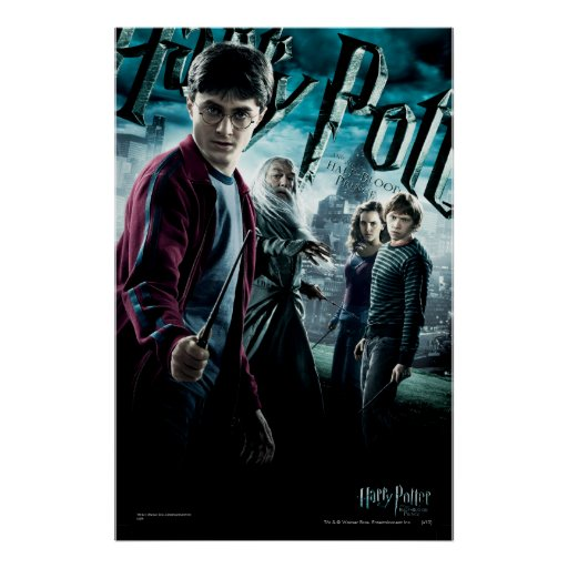 Harry Potter With Dumbledore Ron and Hermione 1 Print