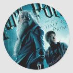 Harry Potter y Dumbledore en las rocas 1 Pegatinas Redondas