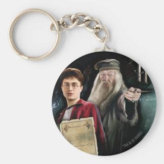 Harry Potter y Dumbledore Llavero Redondo Tipo Pin
