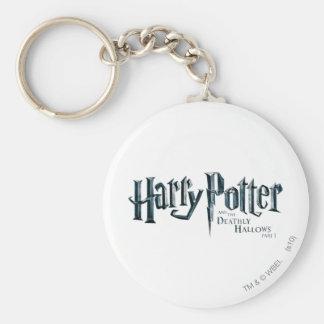 Harry Potter y el mortal santifica el logotipo 1 2 Llaveros Personalizados