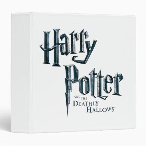 """Harry Potter y el mortal santifica el logotipo 3 Carpeta 1 1/2"""""""