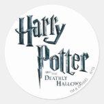 Harry Potter y el mortal santifica el logotipo 3 Etiqueta Redonda