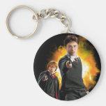Harry Potter y Ron Weasely Llavero Redondo Tipo Pin