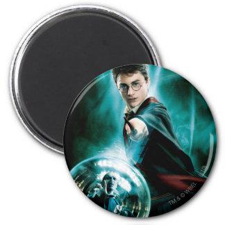 Harry Potter y Voldemort solamente uno pueden sobr Imán Redondo 5 Cm