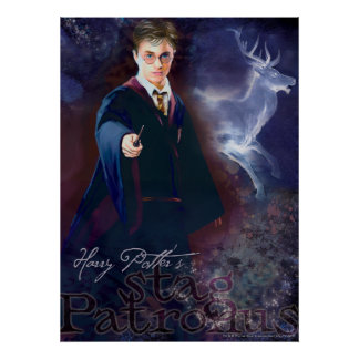 Harry Potter's Stag Patronus Poster