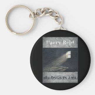 Harry Reid Basic Round Button Keychain