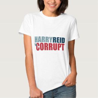 Harry Reid es corrupto Playera