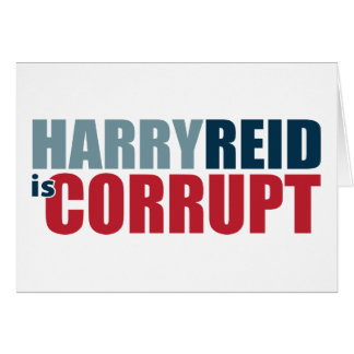 Harry Reid es corrupto Tarjeta
