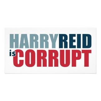 Harry Reid es corrupto Tarjetas Personales Con Fotos