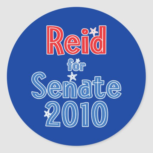 Harry Reid for Senate 2010 Star Design Round Stickers