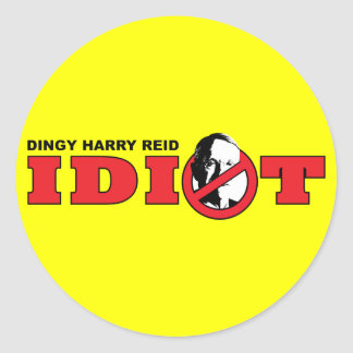 Harry Reid is an Idiot Stickers