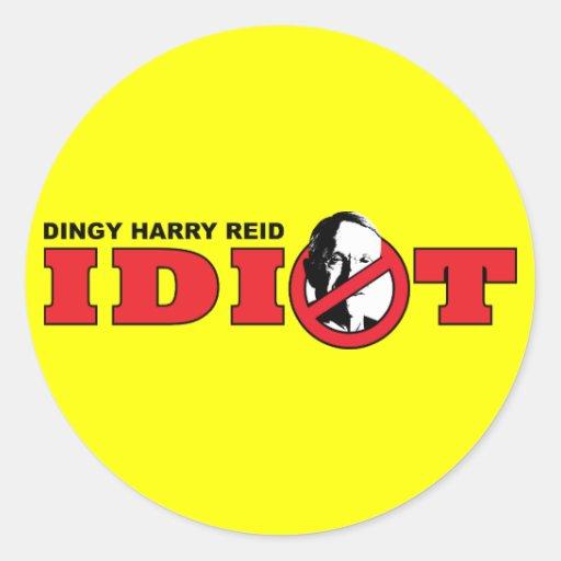 Harry Reid is an Idiot Stickers