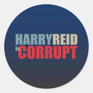 Harry Reid is Corrupt Round Sticker