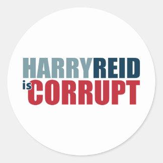 Harry Reid is Corrupt Stickers