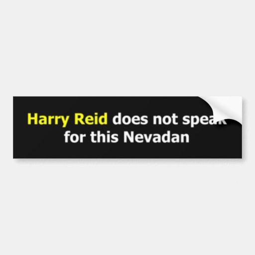 Harry Reid no habla para este Nevadan Pegatina Para Auto