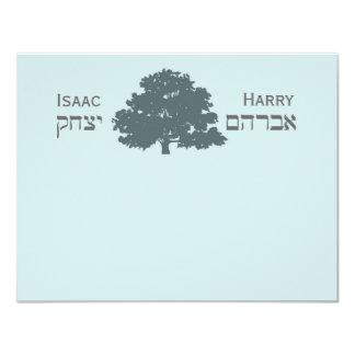 """Harry revisado Isaac le agradece Invitación 4.25"""" X 5.5"""""""