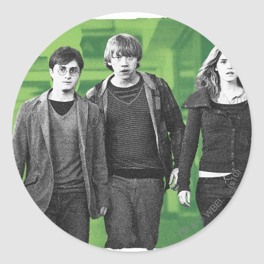 Harry, Ron, and Hermione 1 Classic Round Sticker