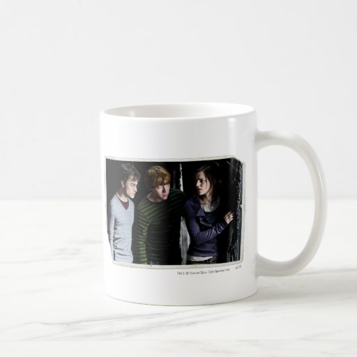 Harry, Ron, and Hermione 4 Classic White Coffee Mug