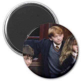 Harry, Ron, and Hermione 2 Inch Round Magnet