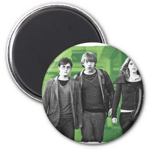 Harry, Ron, y Hermione 1 Imán Redondo 5 Cm