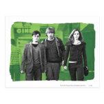 Harry, Ron, y Hermione 1 Postal