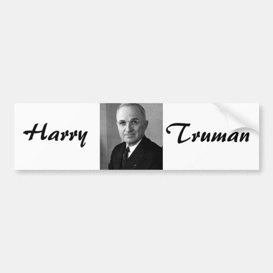 Harry S. Truman 33rd President Bumper Sticker