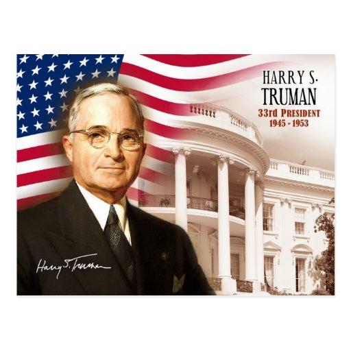 Harry S. Truman -  33rd President of the U.S. Postcard