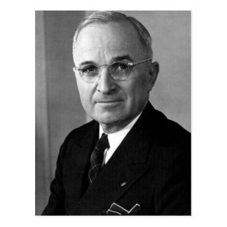 Harry S. Truman 33rd President Postcard