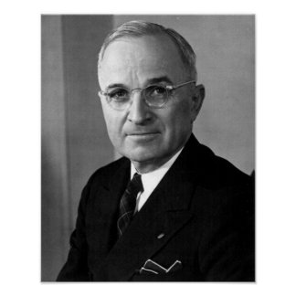 Harry S. Truman 33rd President Posters