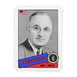 Harry S. Truman Baseball Card Rectangular Photo Magnet