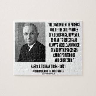 Harry S. Truman ningún gobierno es democracia perf Puzzle
