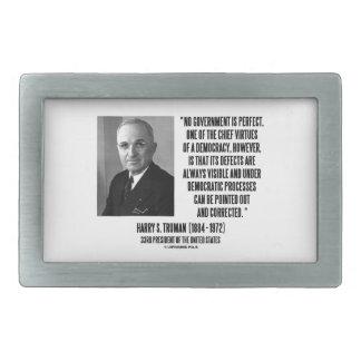 Harry S. Truman No Gov't Is Perfect Democracy Belt Buckle