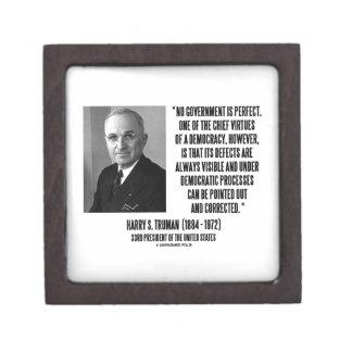 Harry S. Truman No Gov't Is Perfect Democracy Jewelry Box