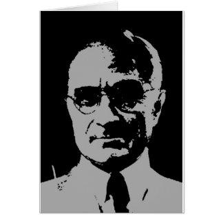 Harry S. Truman silhouette Greeting Card