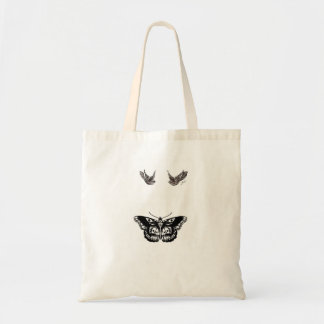 Harry Styles butterfly and birds tote