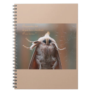 Harry the Hairy Moth Notebook