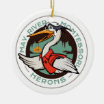 Harry The Heron Holiday Ornament