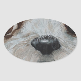 Harry the Shih Tzu Oval Sticker