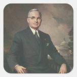 Harry Truman Calcomanias Cuadradas