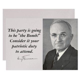 Harry Truman Card